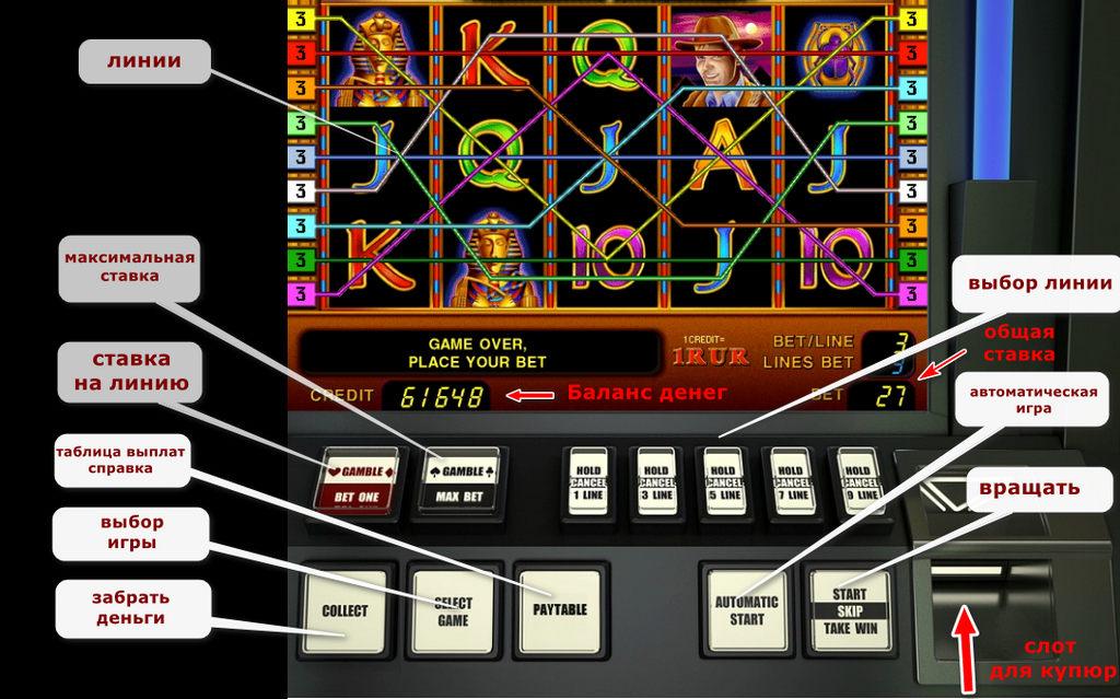 Игровой автомат кнопки